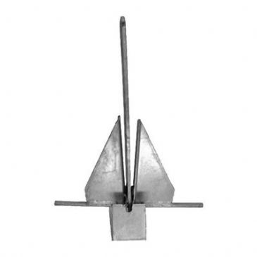 Galvanized Crown Stock Anchor 14kg